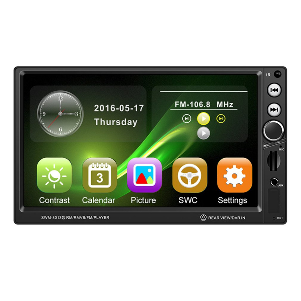 800*480 7 Inch GPS Navigation Car MP4/MP5 Player Bluetooth Vehicle Audio Video Player Support Brake Prompt Mini TF Card Hot 7020g 7 inch 1080p car audio player mp5 player bluetooth call gps navigation rearview camera remote control fm usb tf aux