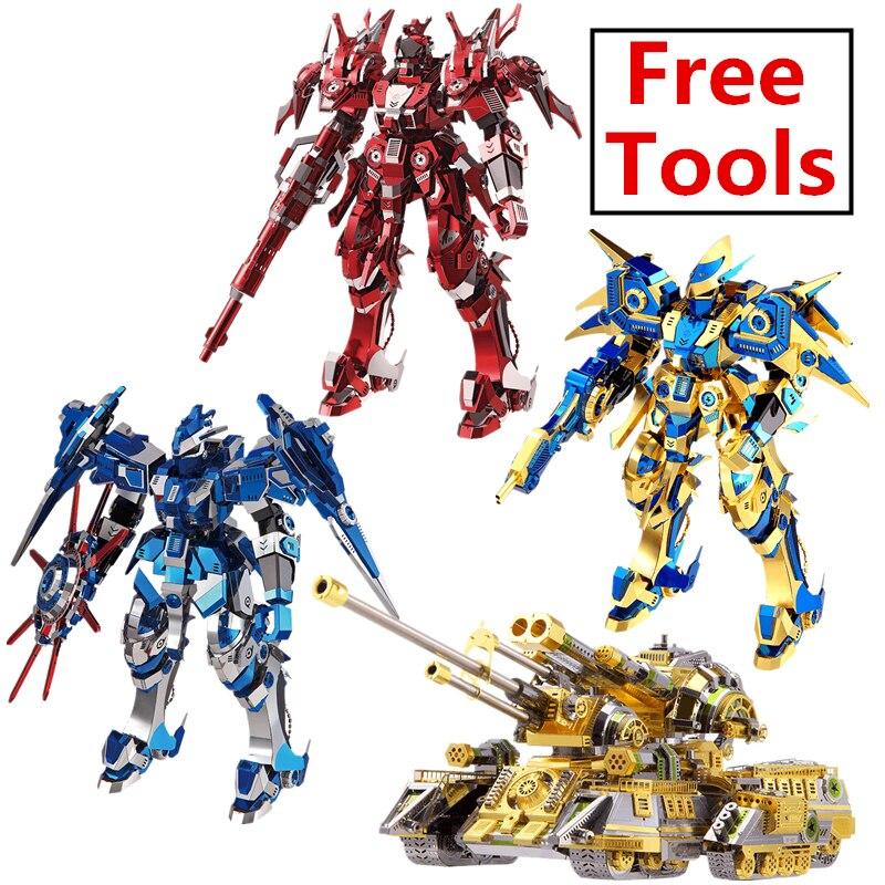 MMZ MODEL Piececool 3D puzzle metalowe żołnierz robota zbiornika modelu montaż metalowy zestaw modeli do składania DIY 3D laserowo wycinane model puzzle zabawki prezent