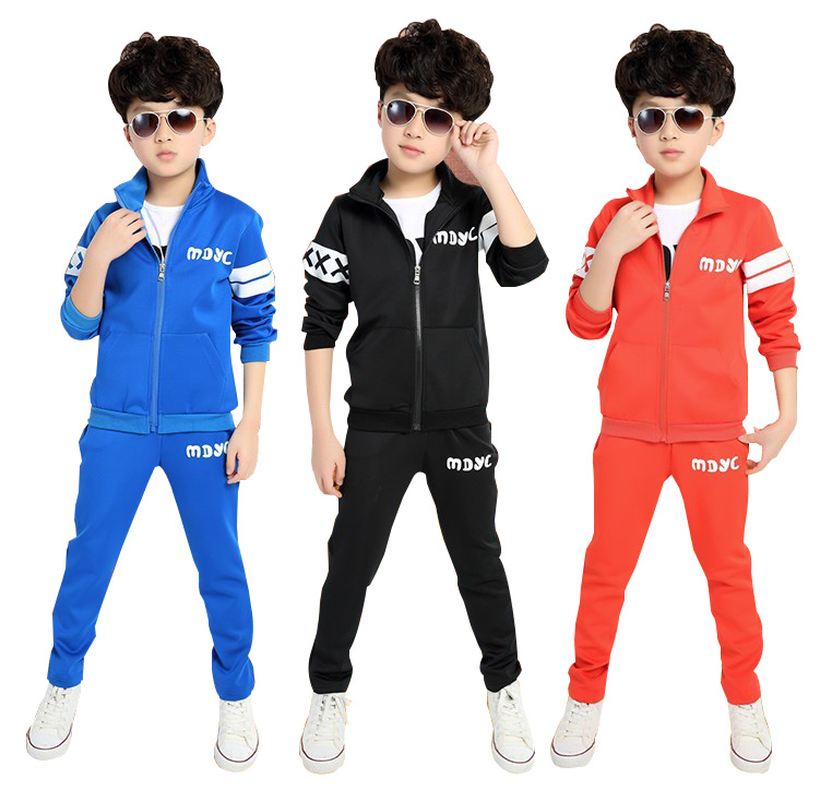 2018 Spring Autumn Children Clothing set Boys And Girls Sports Suit 3-12 Years Kids Tracksuit Baby Girls & Baby Boys Clothes Set girls clothing sets cotton velvet fashion pink sports suit brand new 2017 autumn spring girls tracksuit kids clothes size 3 14