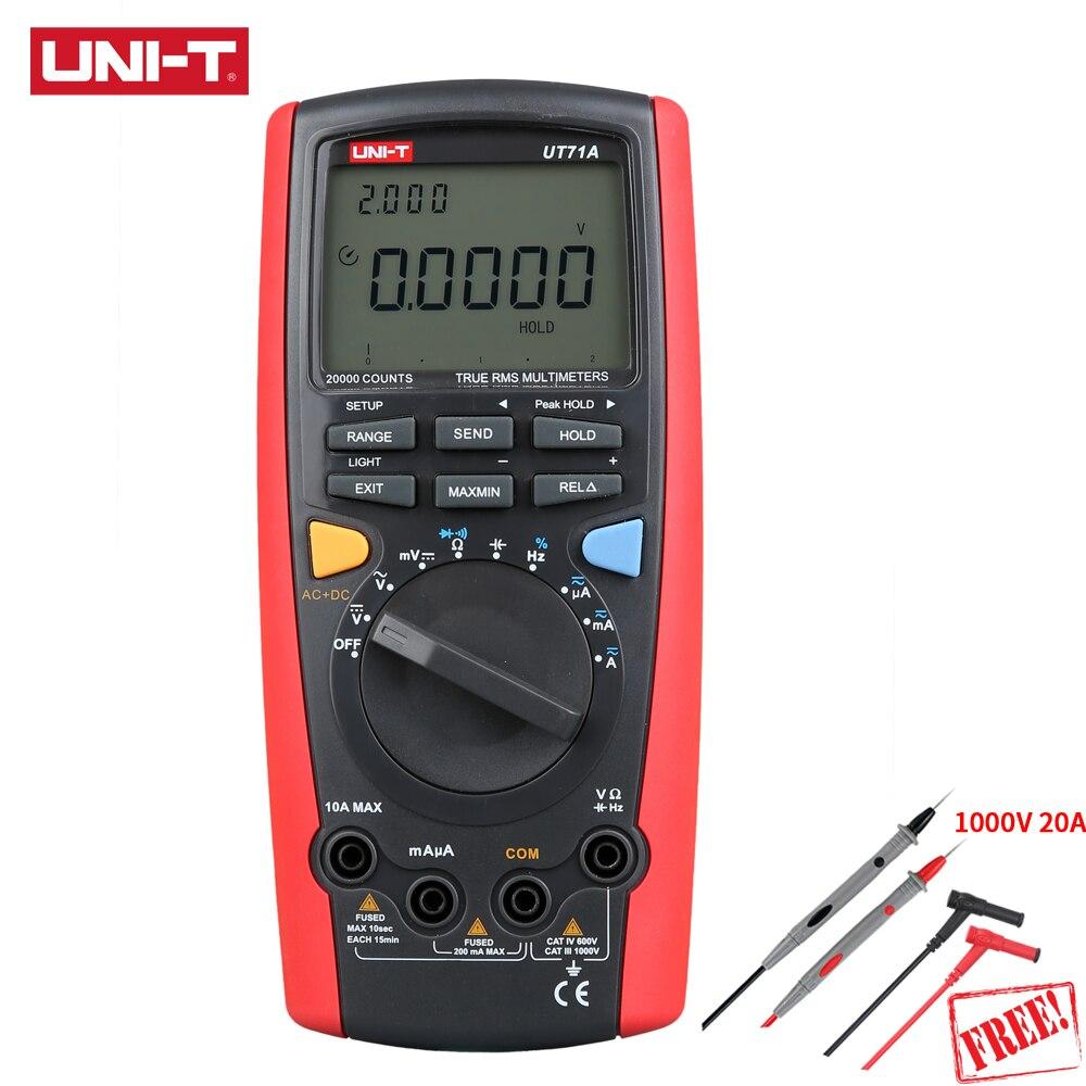 UNI-T UT71A Intelligent Digital Multimeter Auto Range 1000V True RMS 19999 Display USB Interface AC DC Current Voltage REL Ohm цена