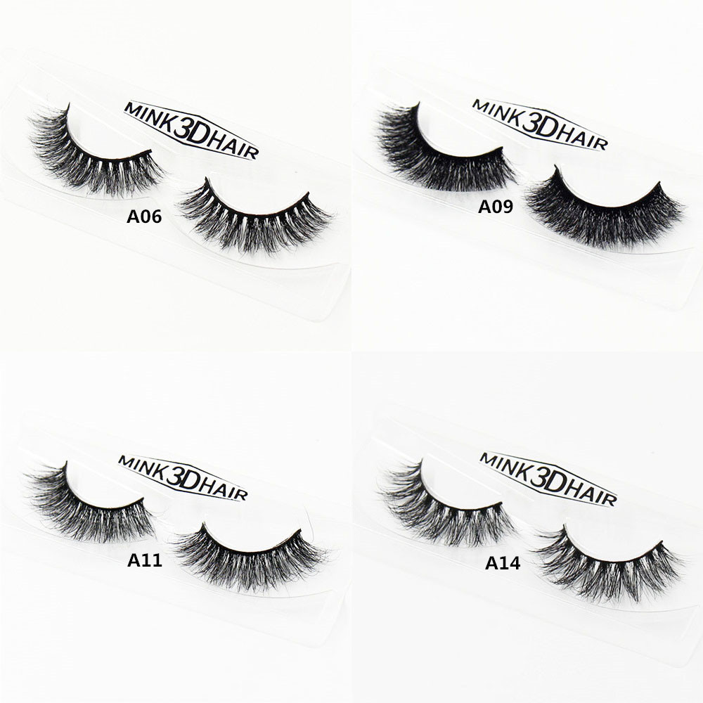 Mink Lashes 3D Mink Eyelashes Natural False Eyelashes 1 pair Handmade Fake Eye Lashes Extension for Beauty Makeup A01 A22