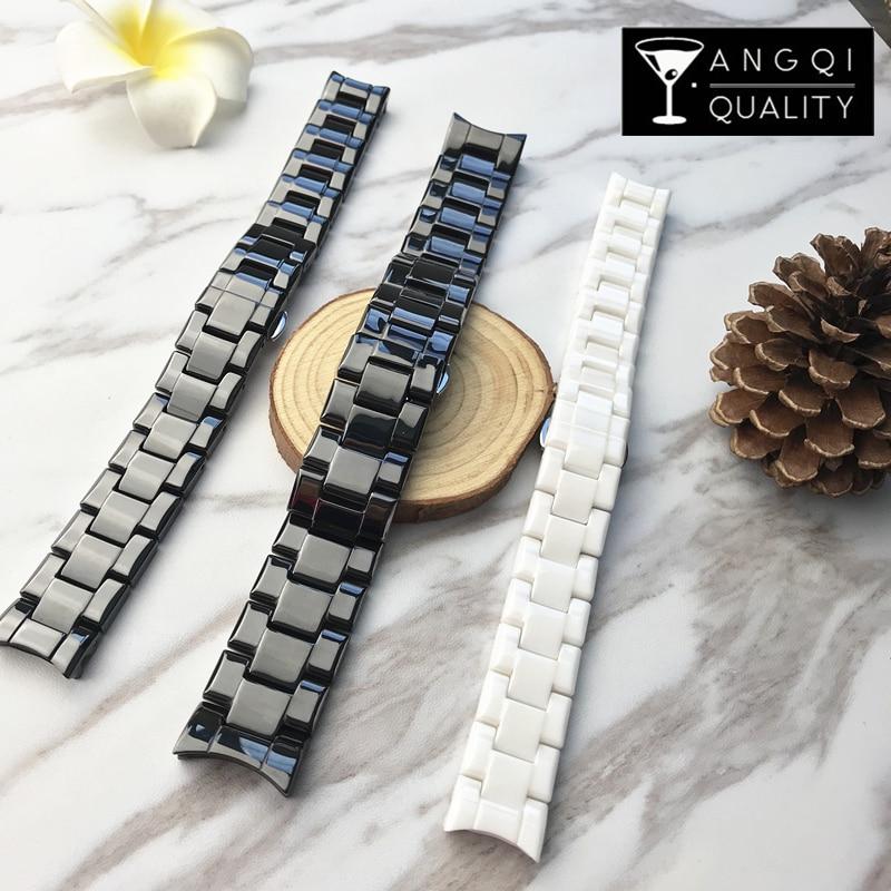 22mm 18mm Ceramic Watch Band For Armani AR1400 1410 1412 1418 1473 1402 Valente AR Watches Wrist Strap Brand Watchband Man Woman