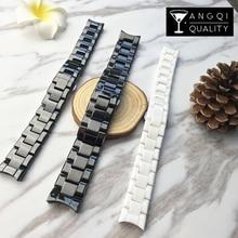 22mm 18mm faixa de relógio cerâmica para ar1400 1410 1412 1418 1473 1402 arwatches pulseira de pulso marca aço inoxidável homem mulher