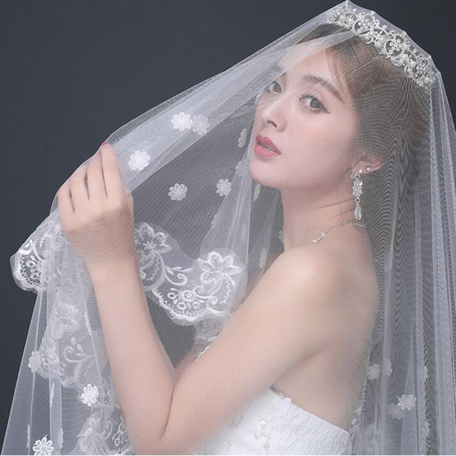 1.5M X 1.5M Direct Selling Wedding Veils Long Acessorios Para Mulher White Bride Bridesmaid Lace For Dress Accessories Veil