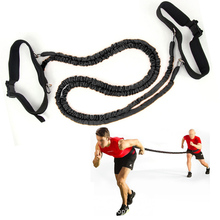 Wellsem Fitness Bounce Trainer Rope Resistance Band Basketball Tennis Running Jump Leg Strength Agility Training Strap
