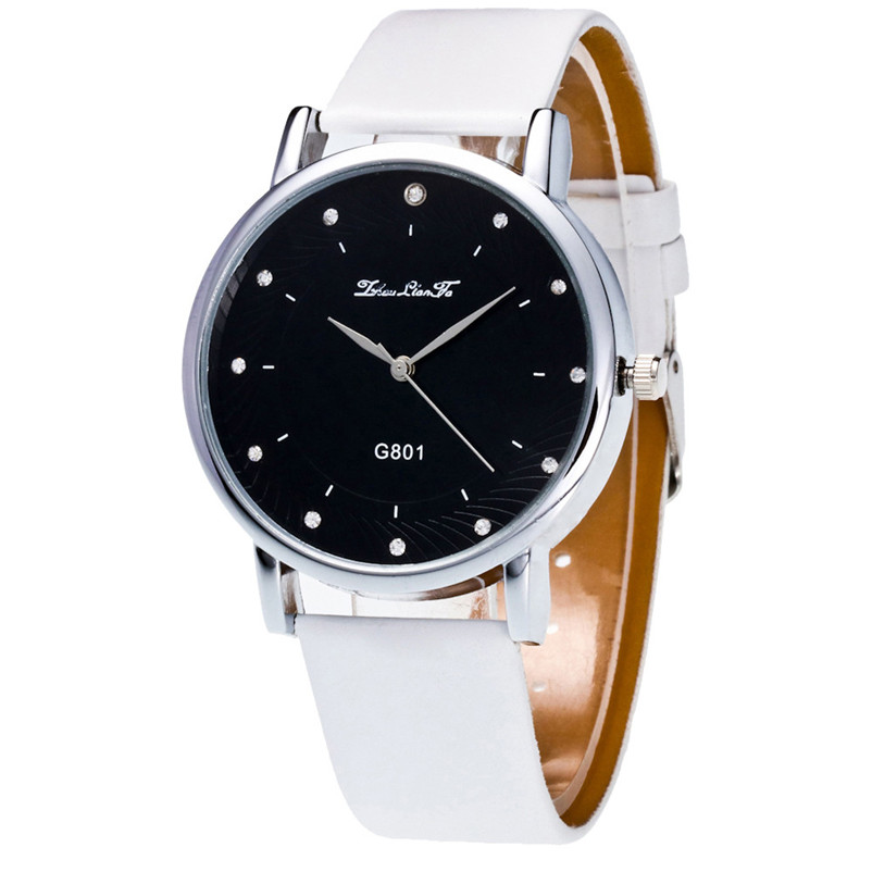 Irisshine #012 Clock Brand New Luxury Couple Unisex Watches Men Fashion Women Analog Quartz Watch Leather Band Rhinestone