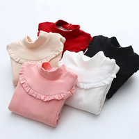 New Winter Baby Girl T Shirts Children Clothing Tops Bottoming Tees Kids Clothes Warm Long Sleeve
