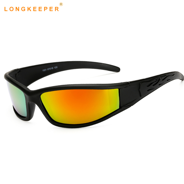 8d20c43558a UV400 LongKeeper 2018 óculos de Sol Dos Homens Polarizados Marca gafas de  sol Dos Homens de