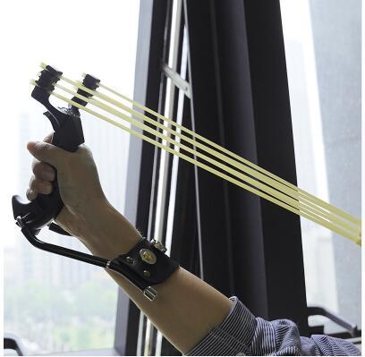 Powerful-Slingshot-With-Rubber-Bands-Folding-Wrist-Slingshot-Outdoor-Black-Gold-Hunting-Slingshot-Shooting-Steel-Balls (4)
