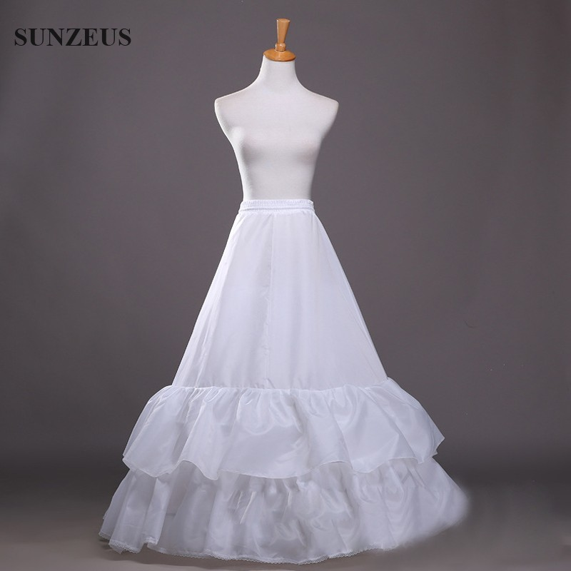 Petticoats Wedding Accessories Responsible 2 Hoop 2 Layers Ruffles Long Bridal Wedding Accessories Crinoline A-line Dress Petticoat Gelinlik Aksesuarlar S41 Grade Products According To Quality