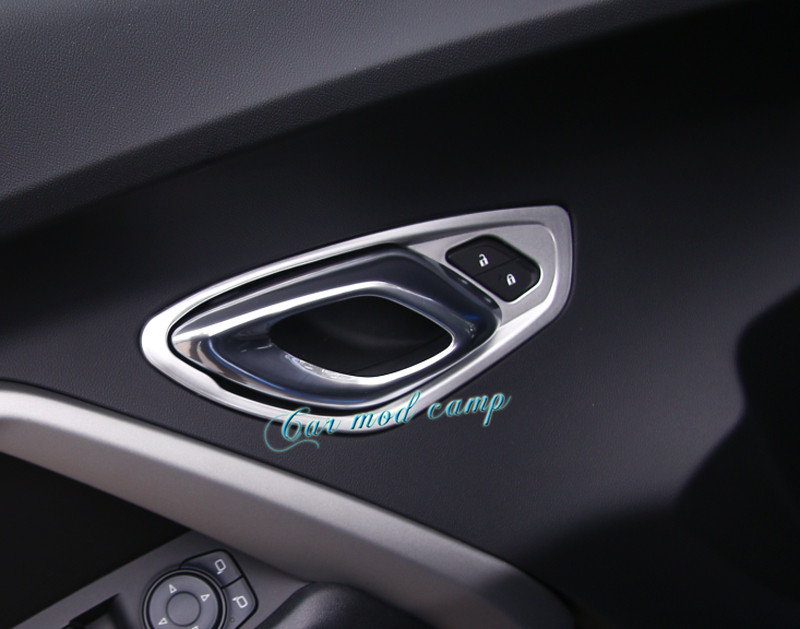 For Chevrolet Camaro 2016 2017 ABS Interior Car Door Handle Bowl Frame Cover Trim 2pcs Car Styling Car Styling Accessories! shineka abs 4 colors auto door interior decoration trim for chevrolet camaro 2017 car styling accessories