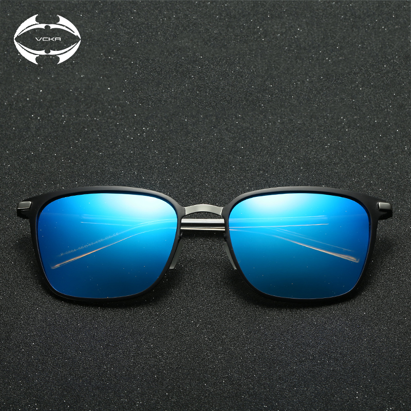 2dd0d338d349 VCKA Retro Square Sunglass Men Polarized Glasses Vintage Women Metal Frame  Eyewear Ultra light UV400 Fashion Outdoor Driving-in Sunglasses from  Apparel ...