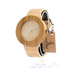 BOBO BIRD H09 Womens Retro Wooden Gold Watches with Wood Grain Vegetable Tanned Leather Simplement Design Ladies Wristwatch