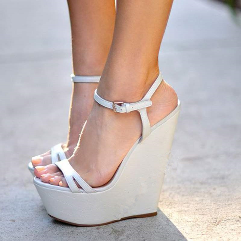 FGHGF super high heel 15CM high, 4.5cm high flat heel women's shoes,...