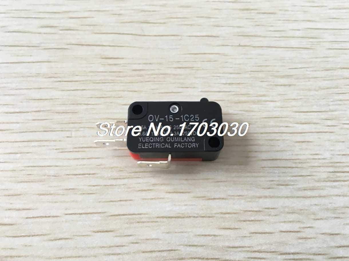 5Pcs OV-156-1C25 15A AC125//250V SPDT NO NC Interrupteur action levier galet long