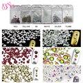 3 Bolsas/lote Brillante ES6-SS20 Mezclado Rhinestone Crystal AB Color 3D Nail Art Decoraciones Flatback