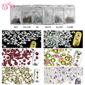 3Bags/lot Shiny SS6-SS20 Mixed Rhinestone Crystal AB Color 3D Nail Art Decorations Flatback Rhinestones