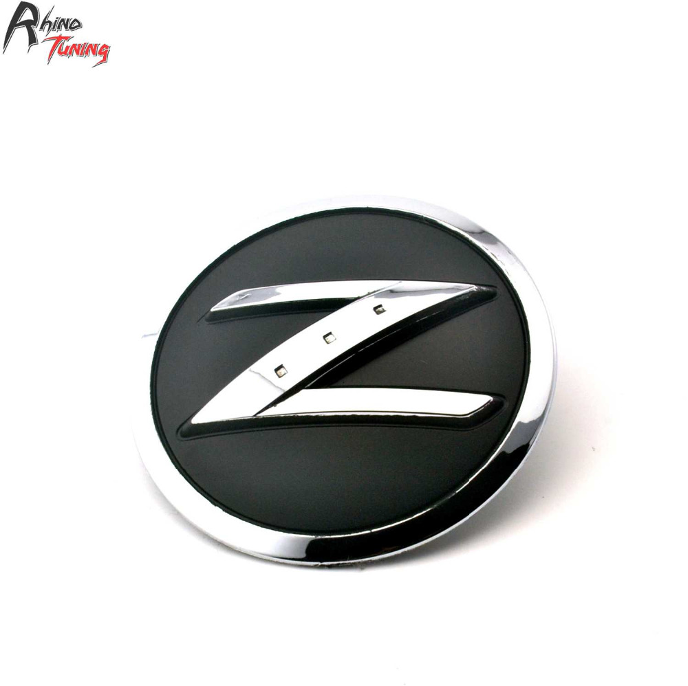Rhino Tuning Z Car Side Wing Emblem ABS 2Pins Auto Styling Badge For Fairlady 370Z 350Z 280Z Car Decoration Sticker 188 auto chrome camaro letters for 1968 1969 camaro emblem badge sticker
