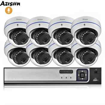 AZISHN 4MP H.265 8CH POE NVR Home Security System 4MP 3MP Audio Record Metal Outdoor Video Surveillance IP Dome Camera Kit ONVIF - DISCOUNT ITEM  51% OFF All Category