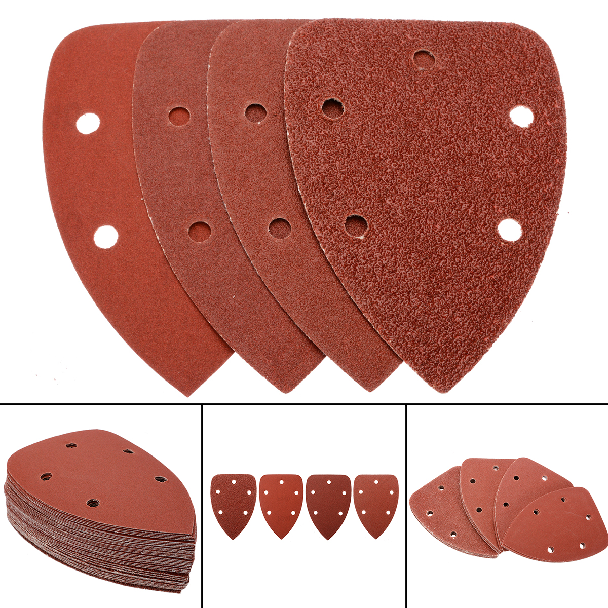 40pcs New Sanding Pads Mouse Sandpaper Disc 40/80/120/240 Grit 140x100mm For Polishing Tools40pcs New Sanding Pads Mouse Sandpaper Disc 40/80/120/240 Grit 140x100mm For Polishing Tools