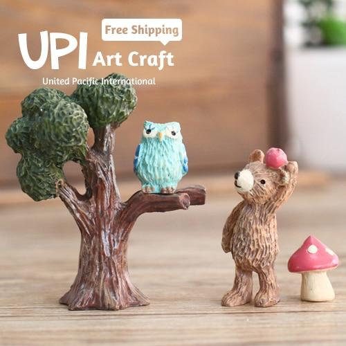 Cartoon Resin Home Decor Handmade Art Craft Forest Animals Sweet