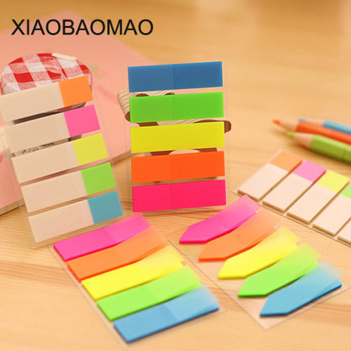 100 Sheets Color Index Tabs Flag Sticky Note Instruct Page Mark Stickers Post Label Office Papelaria Supplies