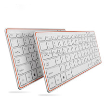 Rechargeable Ultra-thin 2.4G Wireless Keyboard work laptop,notebook,desktop any computer Free Shipping(China)