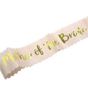 Image 2 - チーム花嫁はローズゴールドサッシ編独身パーティーの装飾ウェディングブライダルショルダー結婚花嫁はパーティー用品