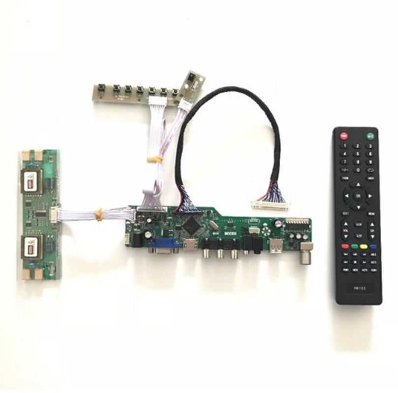 Free Shipping VGA HDMI AV Audio USB TV LCD TV Controller Board  for 19 inch 1440x900 MT190AW01 LVDS 4CCFL LCD driver board fast free ship for gameduino for arduino game vga game development board fpga with serial port verilog code