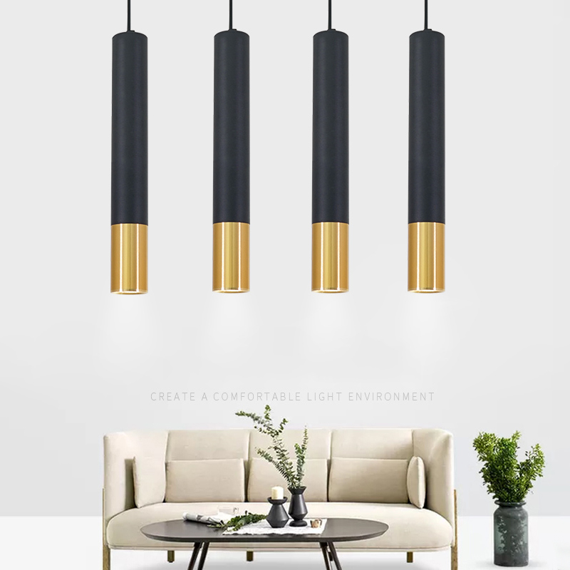40CM Led Pendant Lamp Long Tube Lamp Kitchen Island Dining Room Shop Bar Decoration Cylinder Pipe Pendant Light Kitchen Lamp
