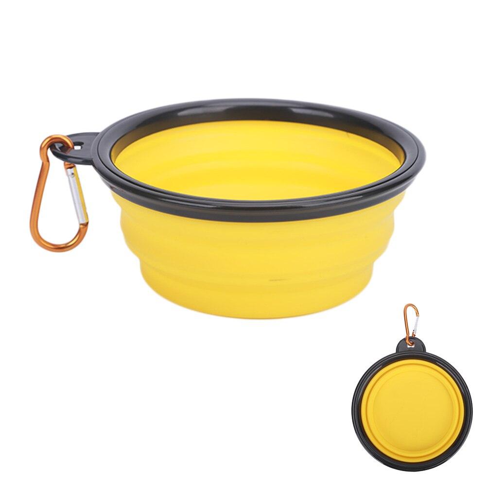 yellow silicone travel bowl
