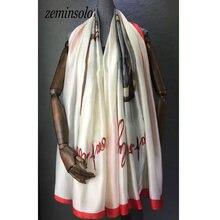 Женский шелковый шарф с принтом бандана роскошный бренд шарфы