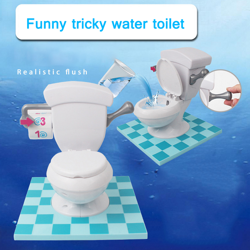 Funny Trick Spray Water Toilet Toy Random Jeting Water Anti Stress Novelty Gag Toys for Children Gift with Box