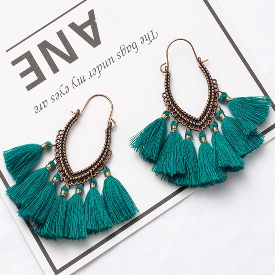 Ethical Antique Retro Golden Tassel Earrings for Women,Fringe Boho earring,Christmas fashion earrings with French hook Gifts