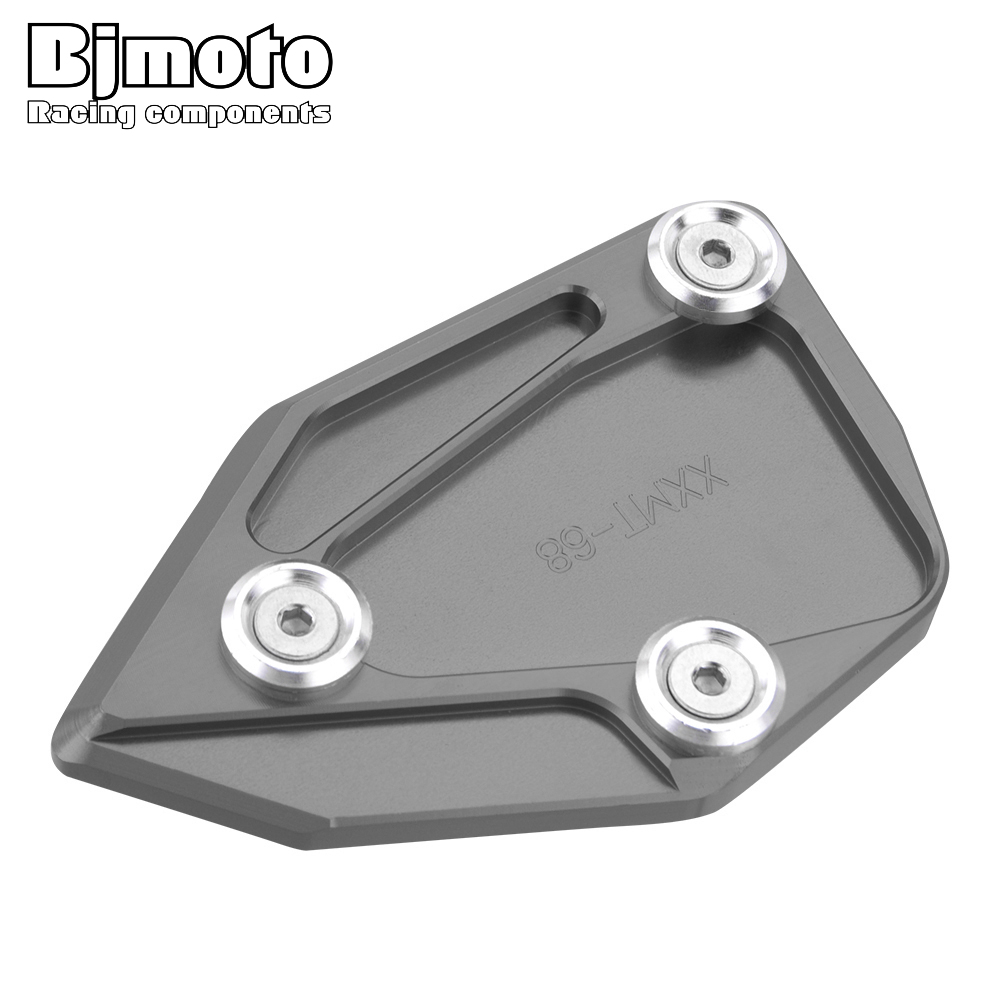 Bjmoto CNC Aluminum Kickstand Extension pad Side Stand Enlarge plate For BMW C600 SPORT k18 2012-2015 C650 GT K19 2012-2016