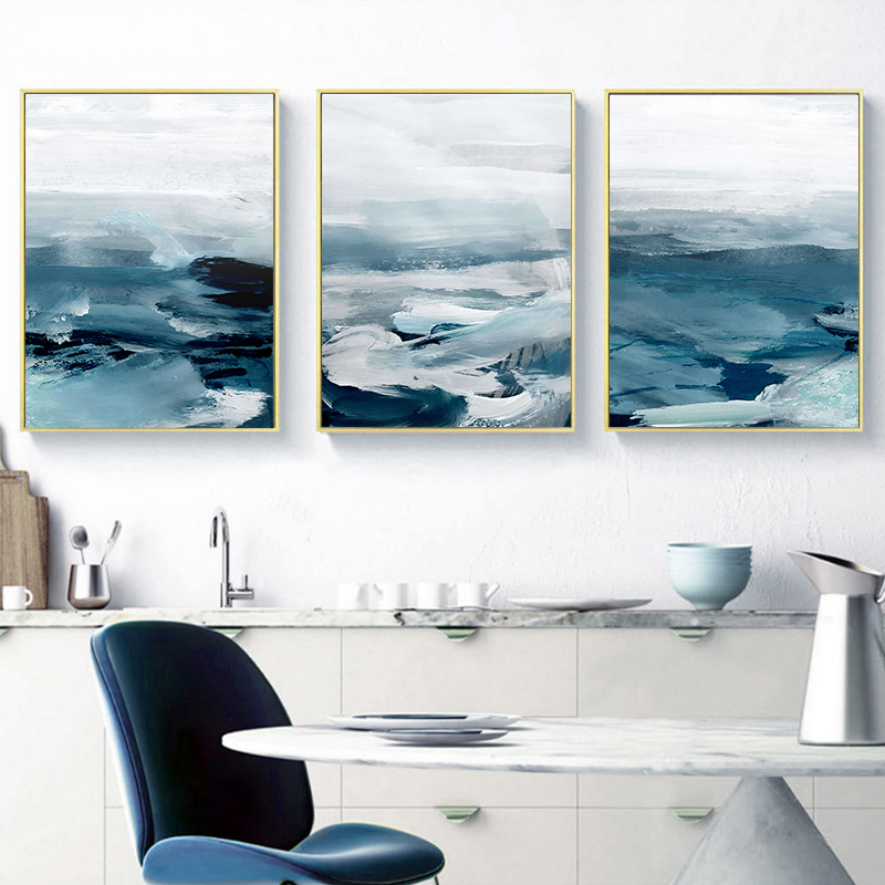 Abstract Ocean Landscape Wall Canvas 26