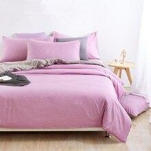 Luxury High Quality Cotton Solid Color Bedding Set Hotel Home Bed Sheet Set Duvet Cover Bedspread Queen king housse de couette