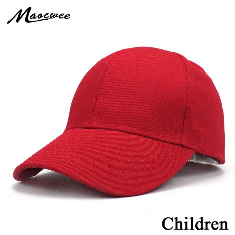 Beechfield B171B Junior Childrens Boys Girls Plain Baseball Cap Hat Black Red