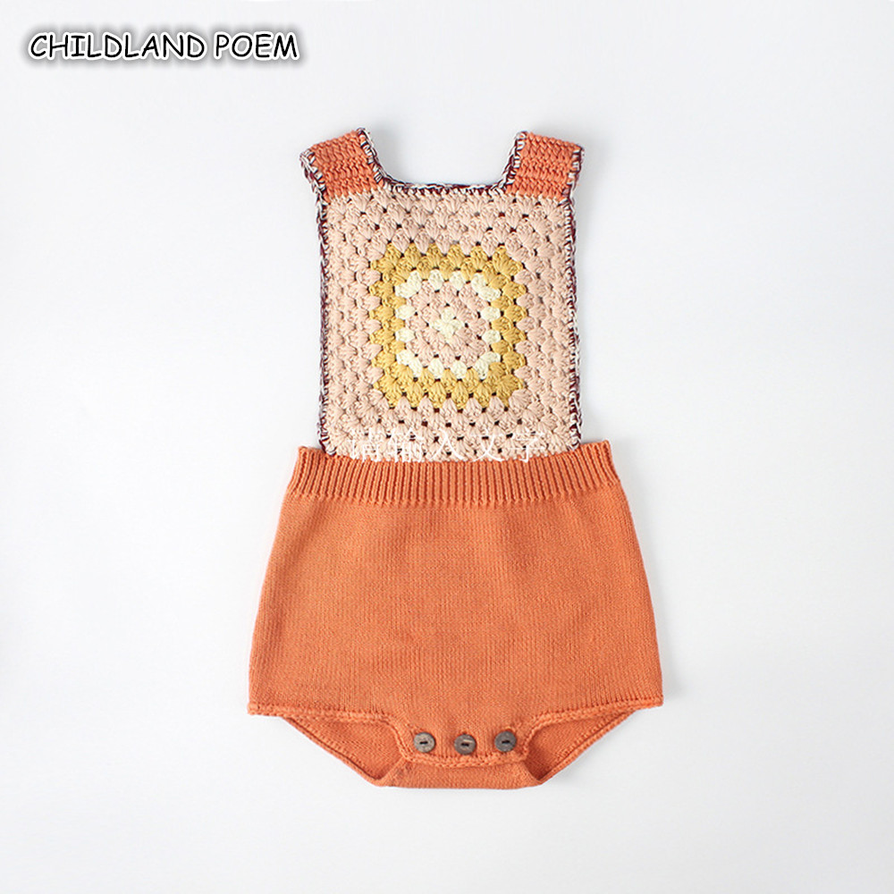 Knitted Rompers For Babies Spring Autumn Girl Baby Romper