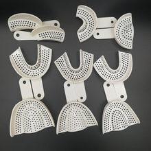 Impression dentaire plateaux en plastique sans plateau de maille matériel de laboratoire de dentisterie plateaux de support de dents outils de dentiste