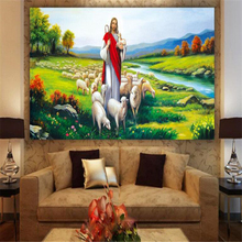 beibehang behang Custom Photo Wallpaper 3D Christian Jesus Oil Painting Wall Decorative papel de parede 3d  wallpaper