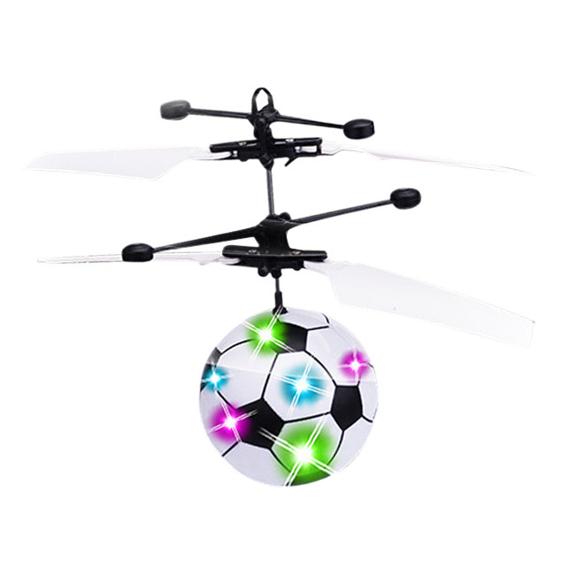 Flying Mini RC Infraed Induction Helicopter Football Flashing Light Toys For Kid Educati ...