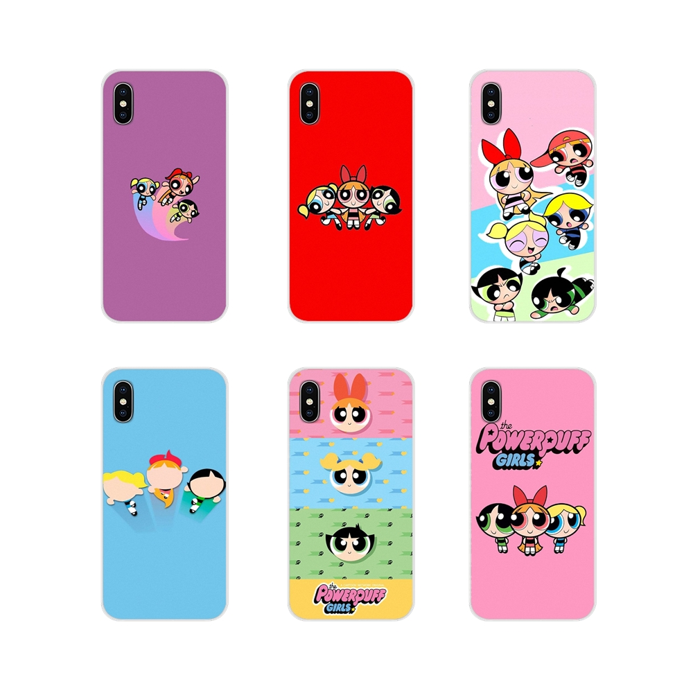 The power puff girls For Apple iPhone X XR XS MAX 4 4S 5 5S 5C SE 6 6S 7 8 Plus ipod touch 5 6 Accessories Phone Cases Covers