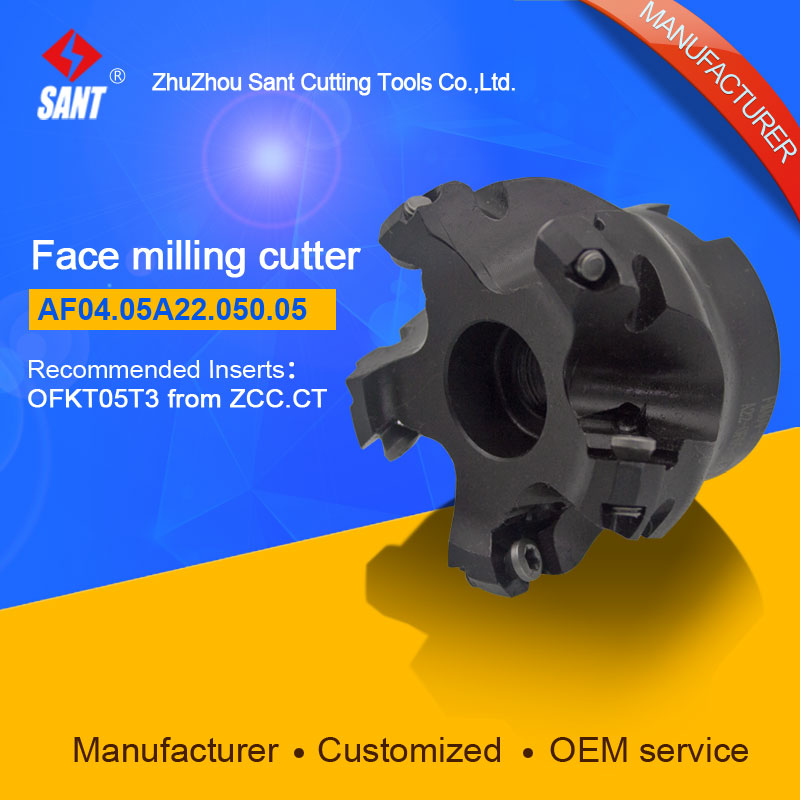Milling tools Indexable cutter With insert OFKT05T3 from ZCC.CT Face cutter disc AF04.05A22.050.05/FMA04-050-A22-OF05-05 high quality indexable milling cutter face milling tools bmr03 025 xp25 m for carbide insert xpht25r1204