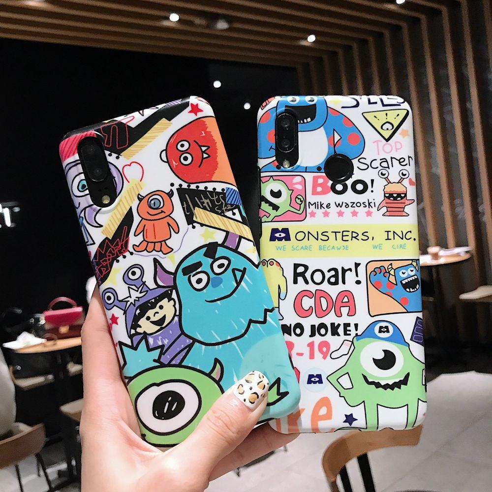 Doodle Graffiti Scribble Cartoon Monsters Toy Matte Soft TPU Cover Case For Xiaomi Mi A2 Mi6x Case Xiaomi Redmi Note 5 Pro Cover