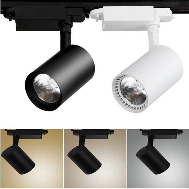 1pcs COB 12W 20W 30W Led Track Light Aluminum Ceiling Rail Track Lighting Spot Rail Spotlights Replace Halogen Lamps
