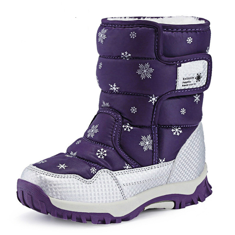 7c56c7954ab4b Image Handmade Comfortable Girls Snow Boots Russia Winter Warm Boots Kids  Shoes Waterproof Children s Boots