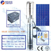 (MODEL 6JTSC35/63-D216/3000)JINTOP SOLAR PUMP power system 3kw never sell any renewed pumps solar submersible 216v dc water pump