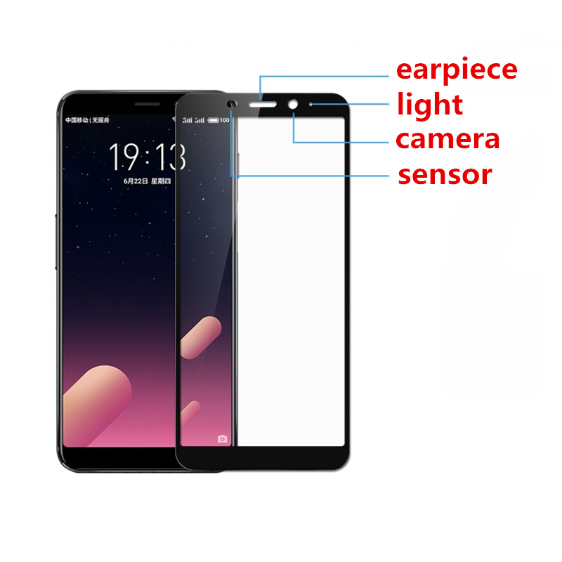 2 pcs Full cover Tempered Glass for MEIZU M6S Charm Blue S6 phone Screen Protective toughened on frame edges discount in Phone Screen Protectors from Cellphones Telecommunications