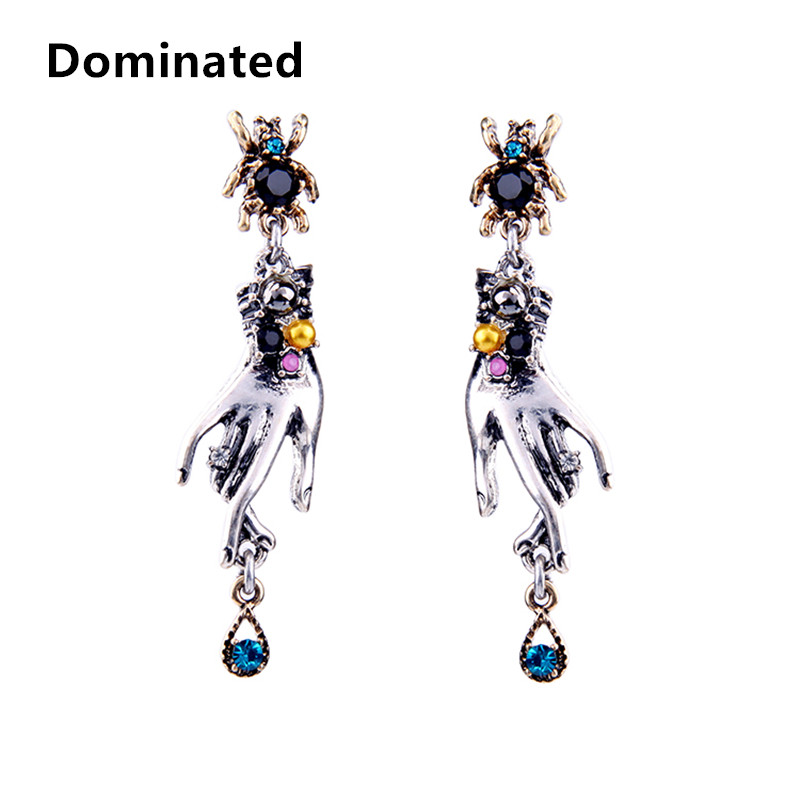 Dominated Women Fashion Trend Retro Alloy Individual Finger Lady Dangle Earrings